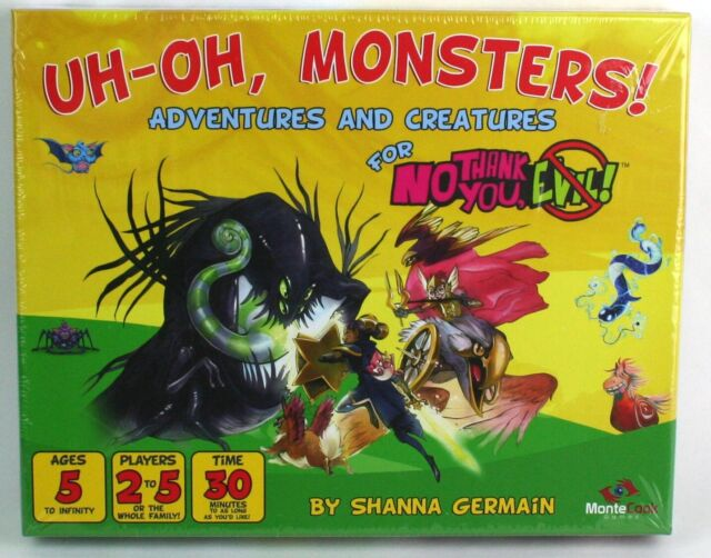 No Thank You, Evil! Uh-Oh, Monsters Adventures & Creatures Set Game MCG101