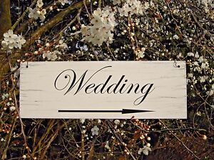 Wedding Arrow Wedding This Way Sign Shabby Vintage Hanging Sign | eBay