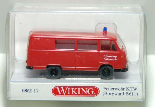 nuevo embalaje original /& Borgward b611 Wiking h0 086117 bomberos ktw