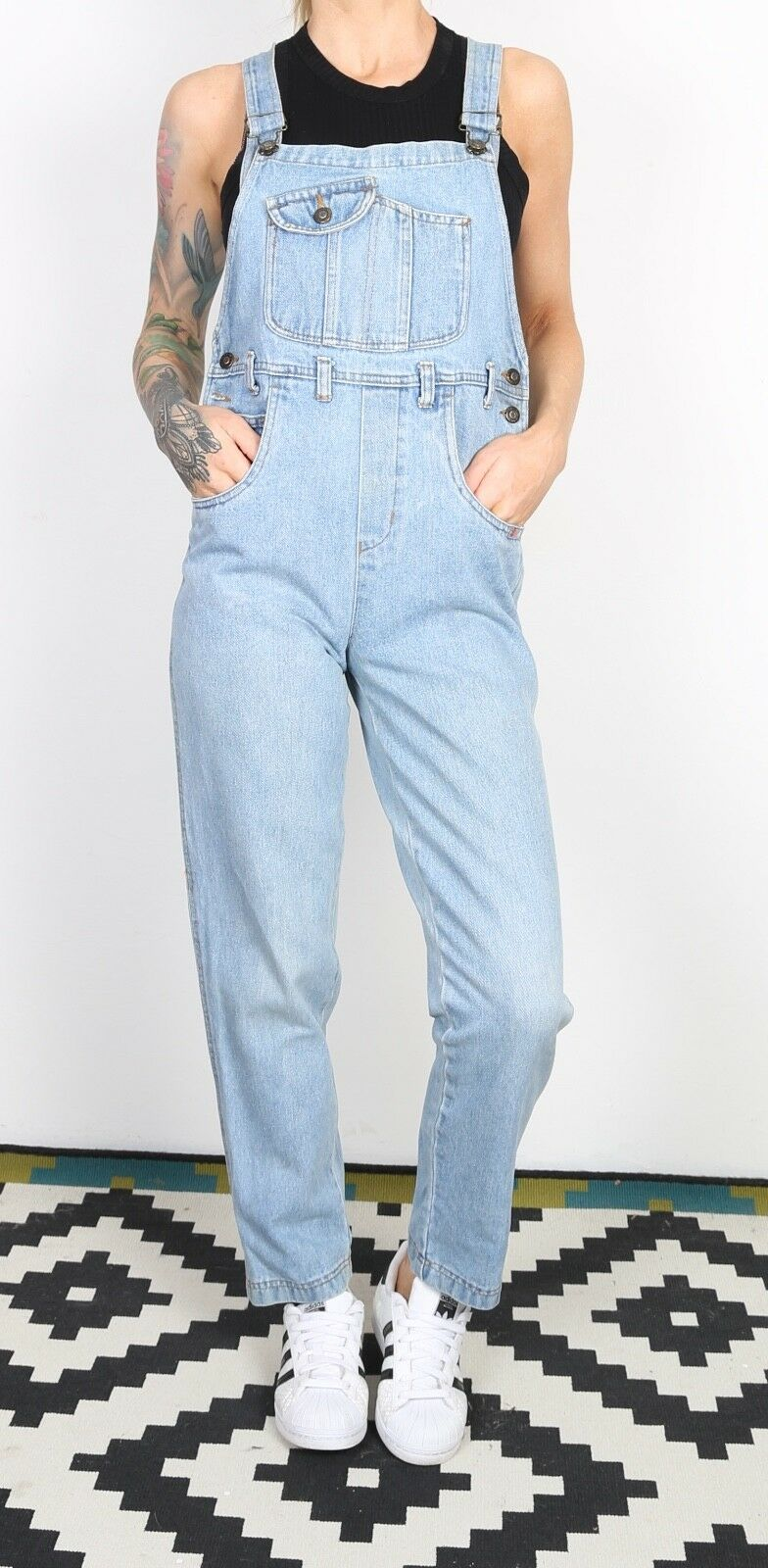 8b173f45 Denim Dungarees PETITE XS Fitted 6 XXS Oversized Wide Tapered Leg (I4C)  ogffrr5130-Jumpsuits & Rompers