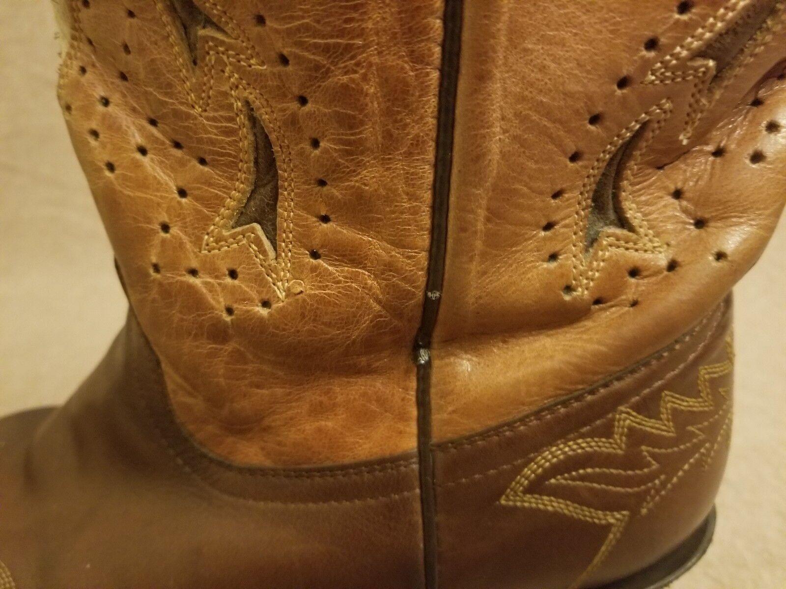 Corral Mujeres Cruz de socorro occidental de Cuero Marrón Marrón Marrón Tire de dedo del pie botas Tamaño 10 M SNIP 586f00