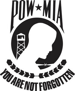 POW-MIA-Vinyl-Sticker-Decal-Military-Army-Marine-Navy-USAF-Choose-Size-amp-Color