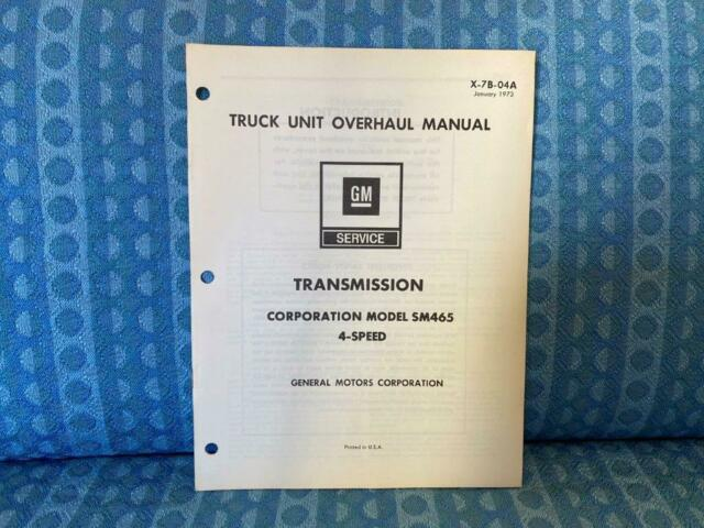 Buy Gm Chevy Sm465 4 Manual Guide