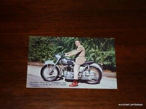 Vintage Triumph Postcard 650 Thunderbird salesman Johnson Motors nos pre unit