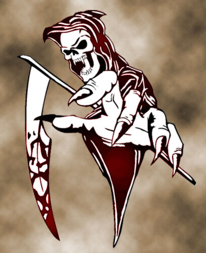 Graveyard Template SALE SprayVision Grim Reaper 8 Airbrush Stencil Multi Layer