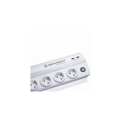 Oehlbach 17021 power socket 905 Multiprise 8 emplacements 2x usb blanc white