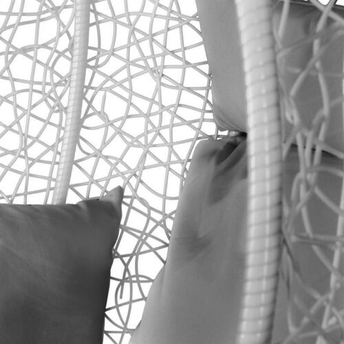 B-Ware Estexo® Hängesessel mit Gestell Polyrattan Hängekorb Hänge-Schaukel Stuhl