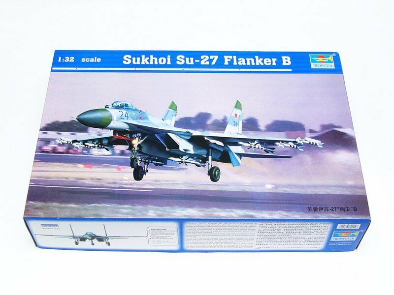 02224 Trumpeter 1 32 SU27 Flanker B Aircraft Airplane Model Kit Jet Fighter