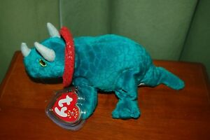 NWT TY 1999 BEANIE BUDDY  ~ BRONTY ~ THE TEAL DINOSAUR RETIRED MINT CONDI