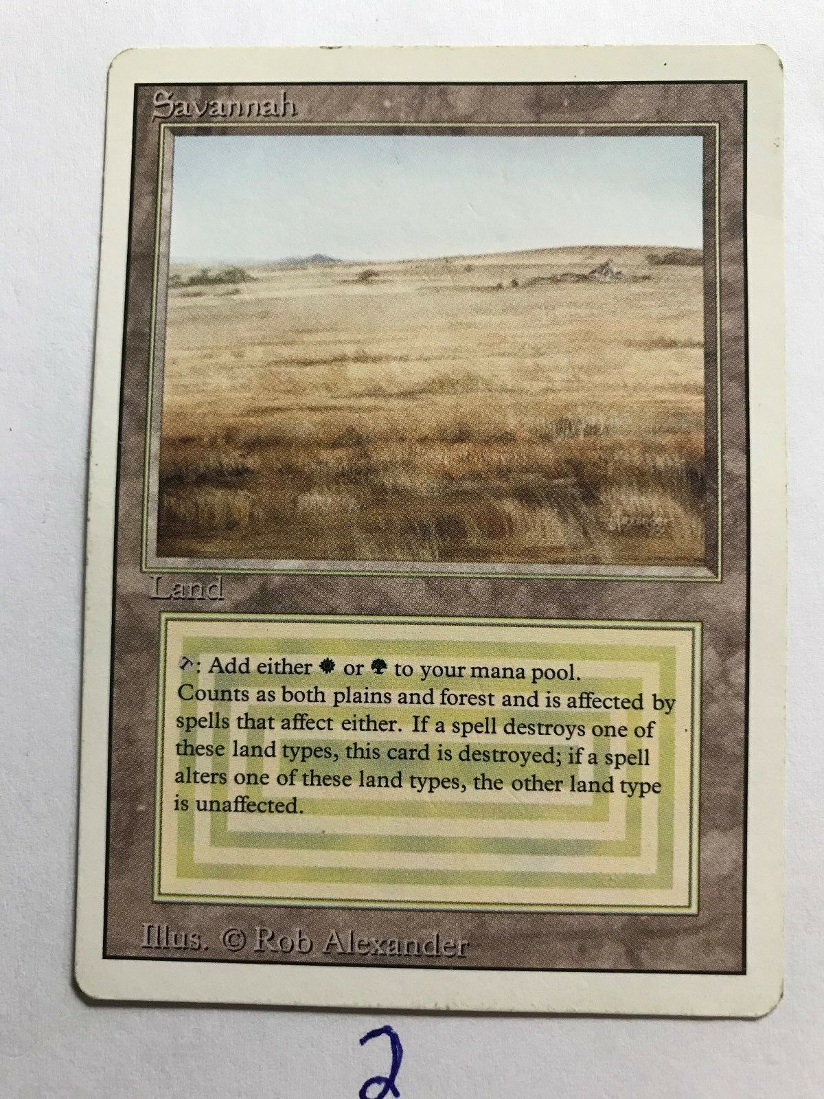 MTG Magic 1X Savannah Dual Land Revised Revised Revised English version (2 available) d9f2fb