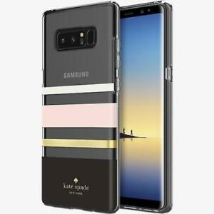 huge selection of be28b 8ae03 Details about Kate Spade NY (#828) Hardshell Case for Galaxy Note 8 -  Charlotte Stripe Black