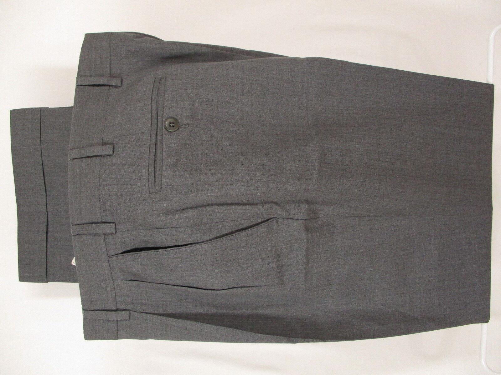 Zanella Bennett Mens Grey Pleated Wool Dress Pants Size 33 34x31