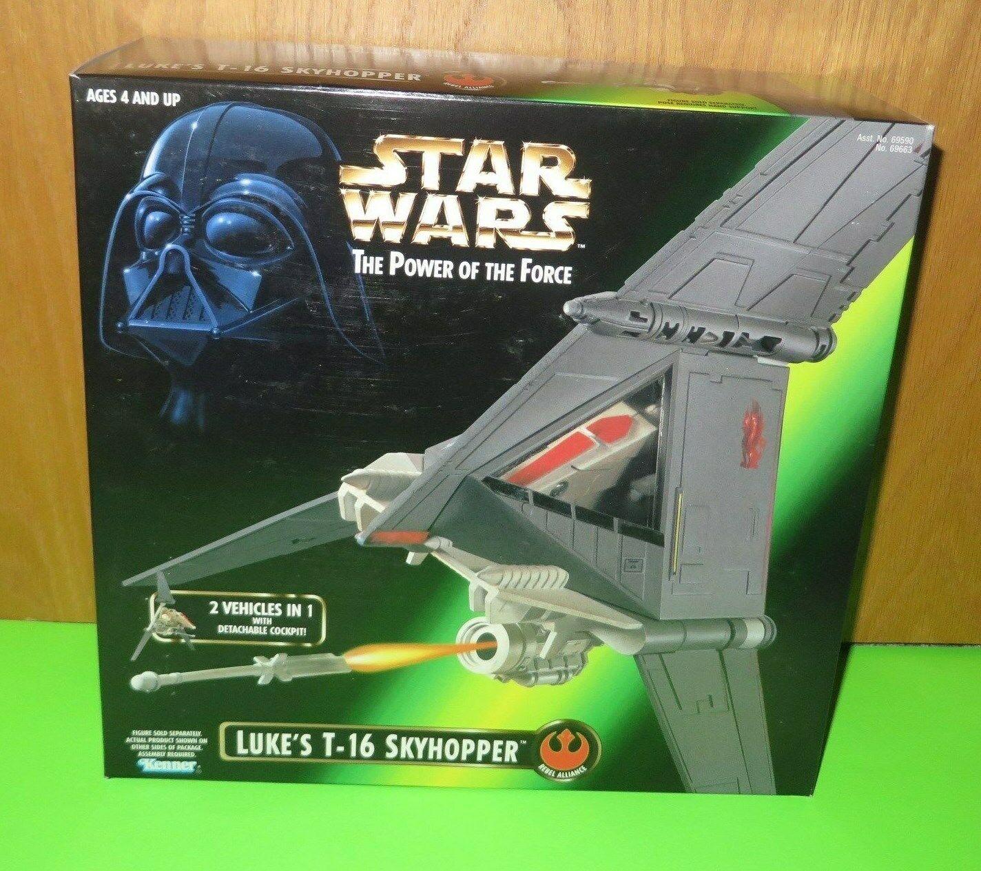 estrella guerras POTF Luke's T16 cielohopper azione cifra MIB   The Force 69663