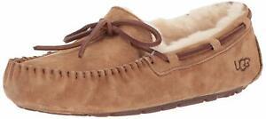 Ugg-Australia-Womens-Dakota-Closed-Toe-Slip-On-Slippers-Chestnut-Size-7-0-wT14