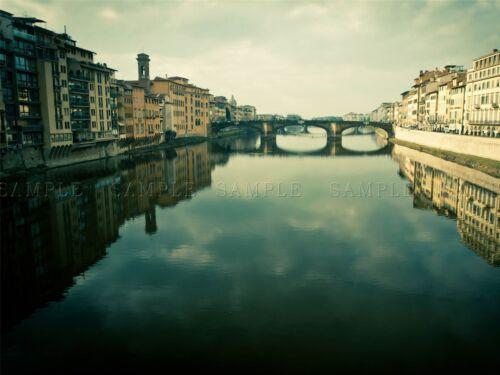 PONTE VECCHIO FLORENCE ITALY BRIDGE RIVER ARCHITECTURE ART PRINT POSTER BMP910A