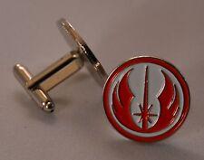 Star Wars Red and White Jedi Order Emblem Quality Enamel Cufflinks