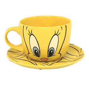 Tweety-Bird-Cup-Bowl-amp-Saucer-Warner-Bros-Studio-Store-1998