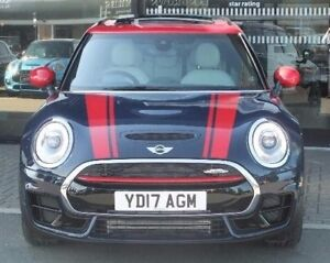 Mini Clubman John Cooper Works Front Bonnet Stripes Red Decal