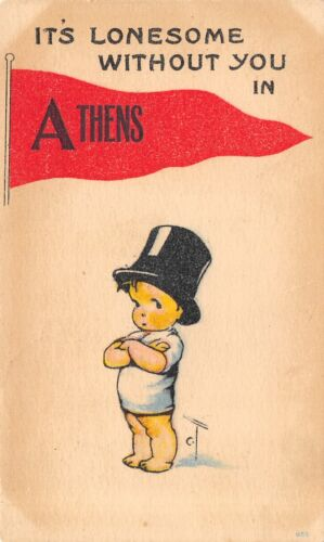 """Lonesome Without You"" in Athens WisconsinCharles Twelvetrees Kid1916 Pennant"