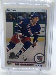 14/15 Upper Deck Anniversary 90/91 Jan Erixon /25 Rangers