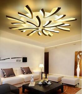 Image Is Loading Modern Acrylic Led Ceiling Chandelier Lights Living Room