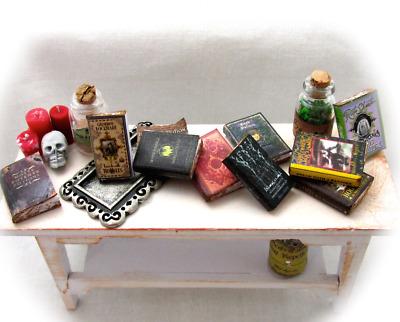 1:6 Scale HARRY POTTER Miniature Book Set 7 PROP Books Faux Wizard Magic Spells