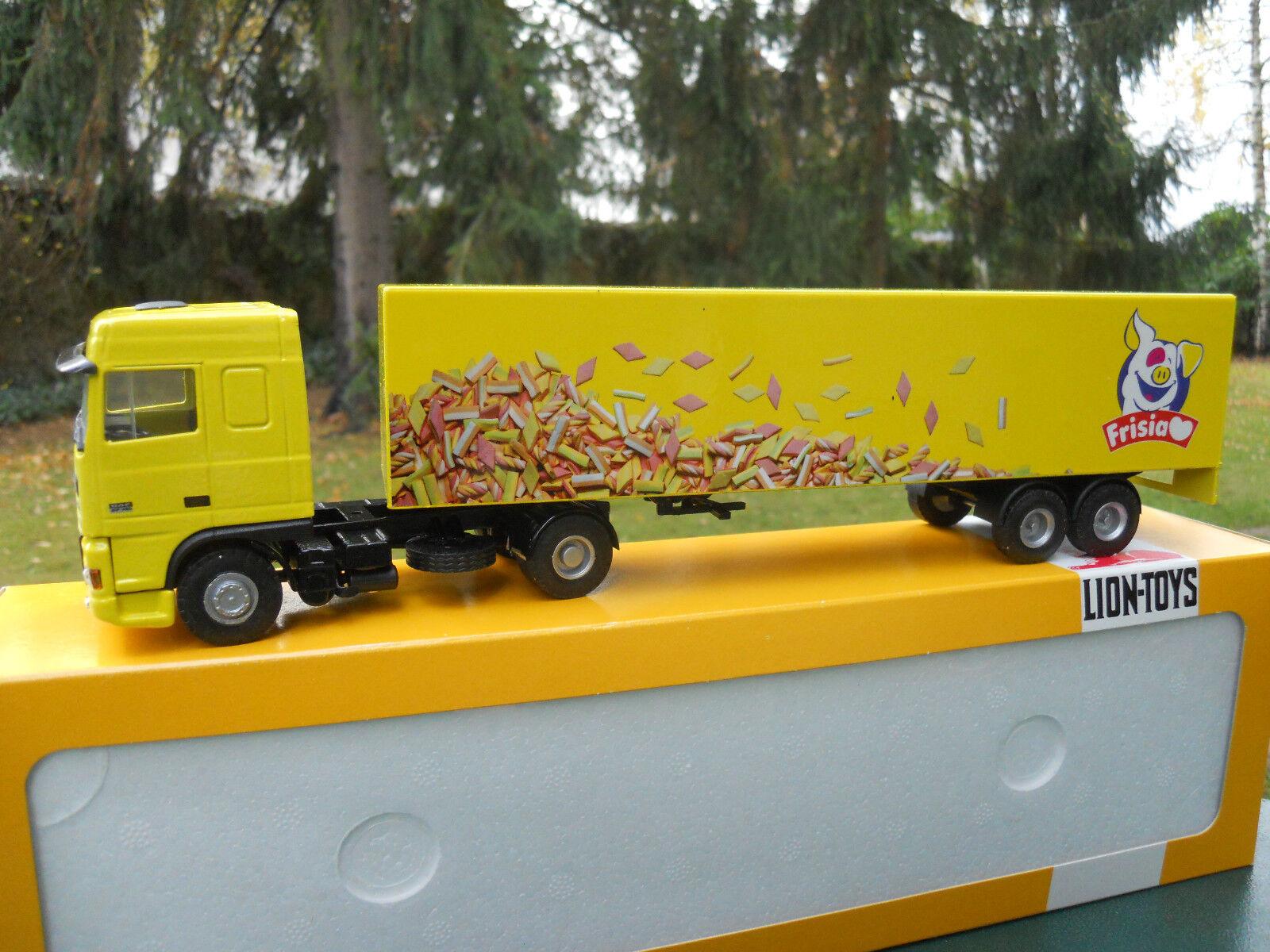 LEóN TOYS 1 50 50 50 DAF 95 XF + SEMIRREMOLQUE CAMIONETA   FRISIA DEL   MINT EN BOX 1e193b