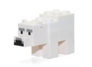 Lego White Baby Polar Bear 21142 Minecraft Animal Figure Minifigure