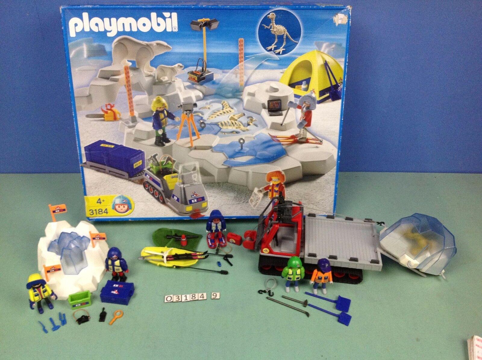 (O3184.9) playmobil Série  exploration polaire 4 ref complet 3184 3191 3194 3193  comprare a buon mercato