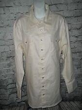 C.E. Schmidt Work Wear Men's Pearl Snap Shirt White Large B17