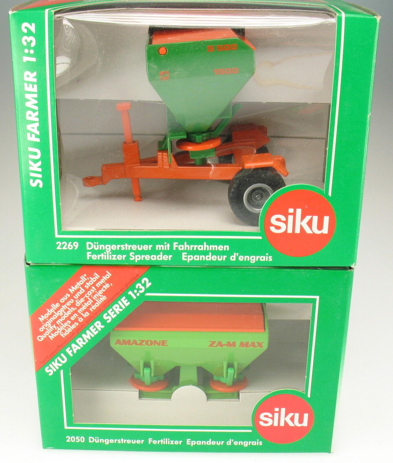 SIKU FARMER 2269 + 2050 - Düngerstreuer mit u ohne Fahrrahmen - NEU in OVP -1 32