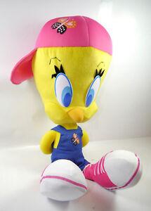 Looney-Tunes-Large-Tweety-With-Bib-amp-Brace-Stuffed-Toy-Plush-Play-By-New-F12