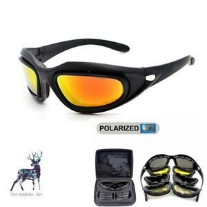6fa08782f4ee Image is loading Daisy-C5-Polarized-Army-Goggles-Sunglasses-Men-Military-