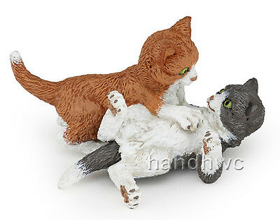 Papo 54034 Kittens Playing Baby Cats Animal Figurine Toy Replica - NIP