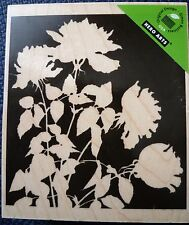 Hero Arts Rubber Stamp Silhouette Meadow Flowers, K5340, new