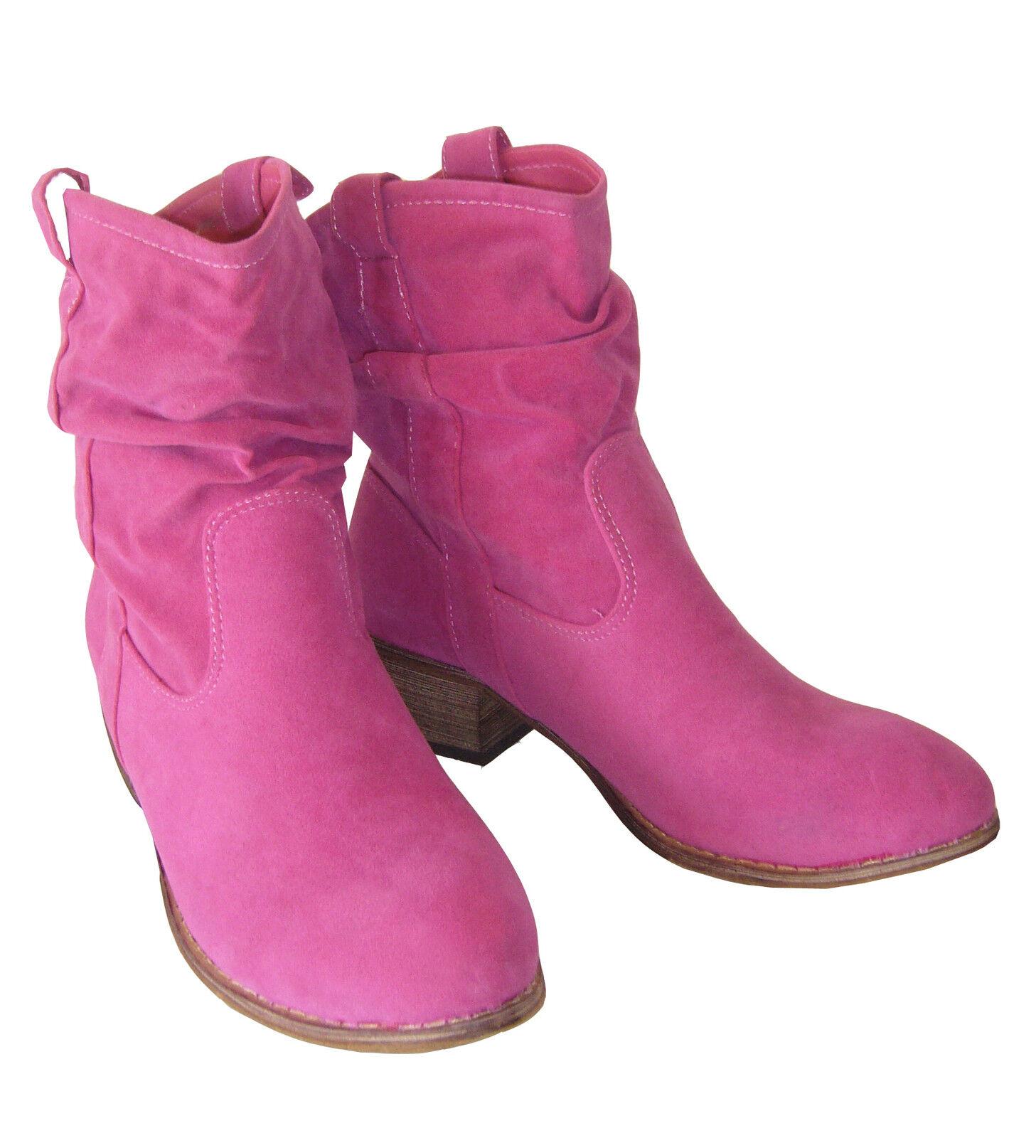 Slouchstiefel Stiefel botas 37 gefüttert Westernstiefel Rosa Tanzzapatos 37 botas Neu f3189c