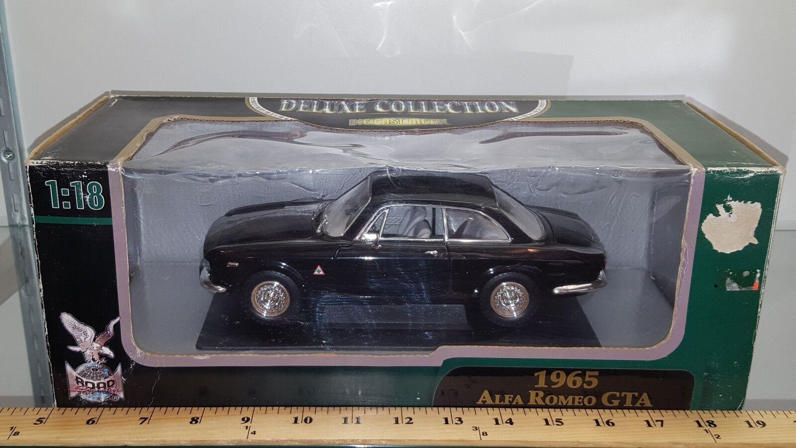 precioso 1 1 1 18 Yatming firma Road 1965 Alfa Romeo Gta Negro YD  Venta en línea precio bajo descuento