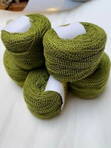 Private Label 100 Yards Moss Green Cotton Lattice Yarn