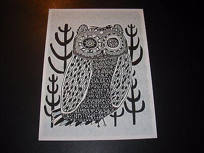 """EMEK Handbill Silkscreen Print MARS VOLTA 2005 Signed 6.5 X 8.7/"""" like poster art"""