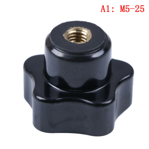Black plastic M5//6//8//10//12 thread star shaped head clamping nuts knob yu