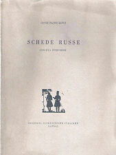 (Letteratura russa) LEONE PACINI SAVOJ - SCHEDE RUSSE - ESI 1959