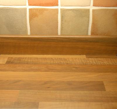 Oak Block effect Kitchen upstand, Laminate