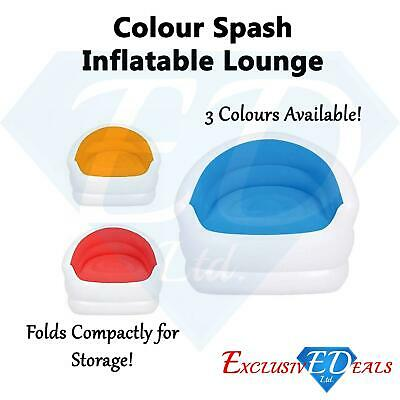 Prime Tesco Indoor Or Outdoor Colour Splash Inflatable Lounge Chair Blue Postage Dailytribune Chair Design For Home Dailytribuneorg