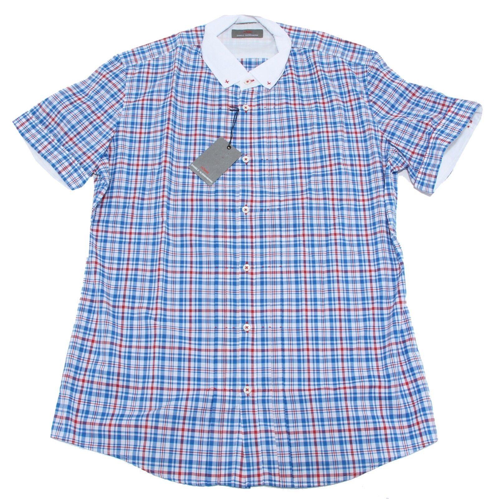 8115 camicia camicia camicia manica corta DANIELE ALESSANDRINI HOMME uomo shirt men f0d660