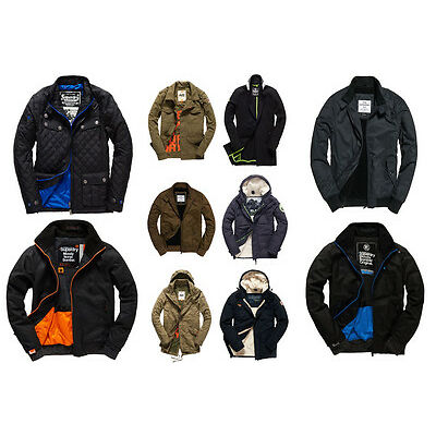New Mens Superdry Jackets Selection - Various Styles & Colours