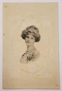 Beautiful-Victorian-Cameo-Image-Lady-Sketch-to-Sugar-Creek-Ohio-Postcard-A17