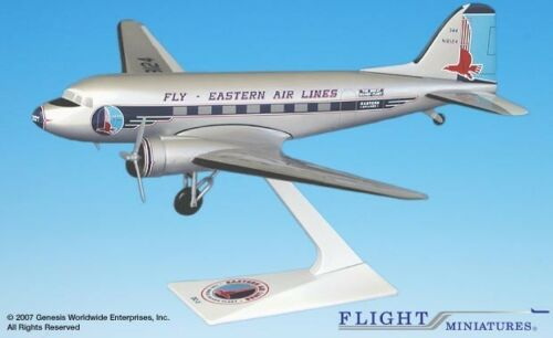 Flight Miniatures Eastern Airlines DC-3 Desk Top Display 1//100 Model Airplane