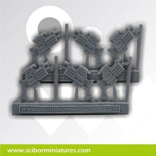 6 Conversion Bits Miniature Weapon Firearm NIB Scibor CPGU0116 SF Guns Set #2