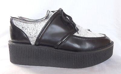 . 100% Autenticos Sandro. Zapatos Plataforma Cordones Piel. Negro. Goma.talla 39