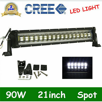 "90W 32/"" Led Slim Single Row Work Light Bar Spot Flood Beam Offroad Driving Lamp"